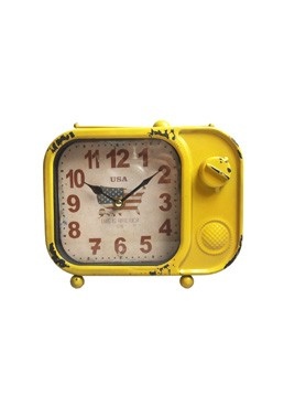 Television Clock Yellow