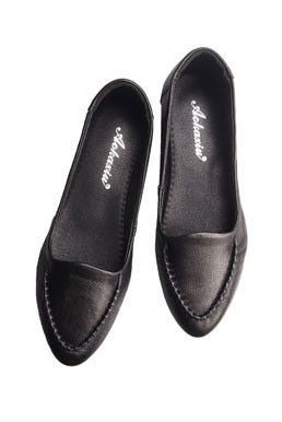 Leather Wedged Loafer