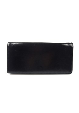 KV3150 Lea Patchy Long Wallet Black